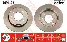 TRW Juego de 2 discos freno 258mm MERCEDES-BENZ CLASE E HYUNDAI COUPE DF4122