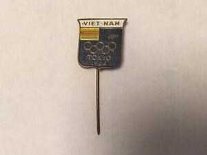 1964 TOKYO OLYMPIC PIN BADGE SOUTH VIETNAM NOC PINS