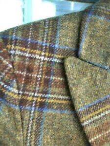HOUSE of BRUAR Beautiful Tweed Jacket 8 UK Hacking jacket- mid olive green check