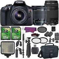 Canon EOS Rebel T6 Digital SLR Camera with EF-S 18-55mm IS II Lens + EF 75-300mm