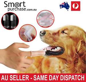 Super Soft Pet Finger Toothbrush Teddy Dog Brush Teeth Care Dog Cat Cleaning x