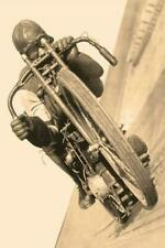 Vintage Sepia Photo .... Motorcycle Racer  ... Vintage Photo Print 8x12