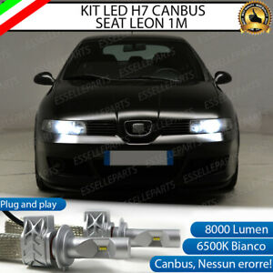 KIT LED H7 SEAT LEON MK1 1M 8000 LUMEN 6500K ANABBAGLIANTI CANBUS BIANCO