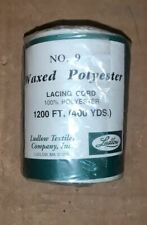 400Yd Waxed Poly Textile Lacing Chord