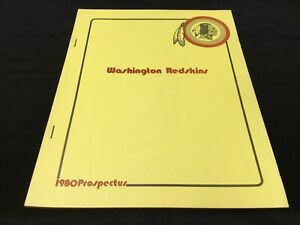 1980 Washington Redskins Prospectus