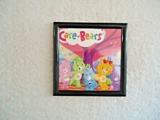 """Vintage Care Bears Picture In Plastic Frame """" Great Rare Collectible Item """""""