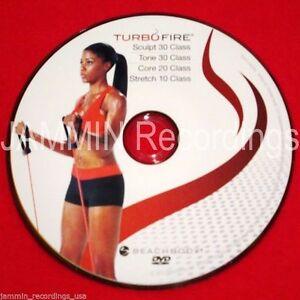 TURBO FIRE - SCULPT 30 + TONE 30 + CORE 20 + STRETCH 10 - (1 DVD) AS PICTURED