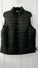Women's Plus Size 3X Black Puffer Vest Zipper Pockets  T15