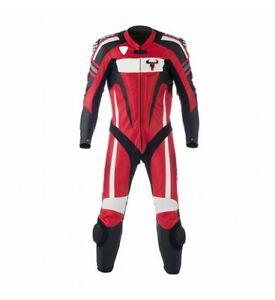 Full Grain Cowhide Buffalo Leather Motorbike Suit Customized Design and Size