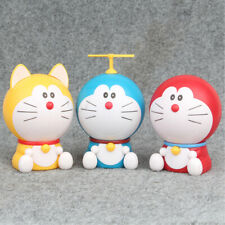 Doraemon Cute Cat Ball 3 Pcs Action Figure Cake Topper Kids Gift Doll Toys Us
