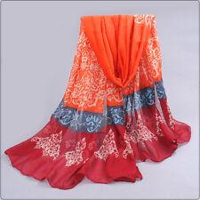 Wholesale Vintage Ladies Scarves Pashmina Scarf Shawl Wrap Navy Silk Stole NEW