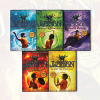 Percy Jackson 5 Books Series Collection Set Rick Riordan Fiction Paperback NEW