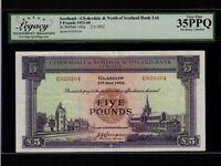Scotland:P-192a,5 Pounds,1952 * Clydesdale & North Scotland Bank * LCG VF 35 PPQ