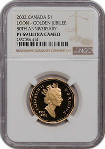 2002 CANADA 1$ LOON GOLDEN JUBILEE 50TH ANNIV. NGC PF69 ULTRA CAM FINEST KNOWN