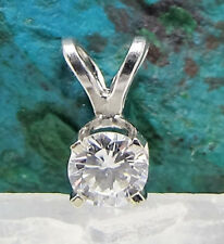 Solid 14k White Gold & Approximately 1/4 Carat High Quality Diamond VTG Pendant
