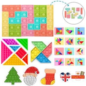 Puzzle Fidget Toys Sensory Pop Push It Bundle Stress Relief Autism Kids Hand Toy