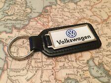 VW Volkswagen calidad Piel Auténtica Negro LLAVERO rectangular GOLF GTI POLO UP