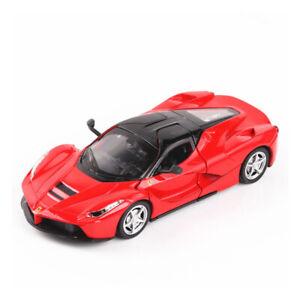Toy Vehicle Red 1:32 Scale Ferrari LaFerrari Super Car Model Metal Diecast Gift