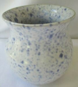 NELL COLE GRAVES 1993 JB COLE POTTERY SMALL SPECKLED VASE SEAGROVE NC