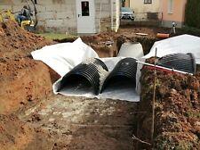 Regenwasserversickerung für das Einfamilienhaus, Rigolensystem mit Tunnel