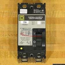 Square D FHL26020 Breakers, 20 Amp, 600 Volt, 2 Pole, 25 kAIR, NEW!