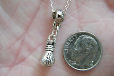 "GOOD LUCK Charm Necklace CASINO Gambling Silver MINI Cash Loot Bag 20"" Chain NEW"