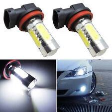 2pcs Universal H8 7.5W Xenon LED COB Car Fog Light Bright White LED Bulbs