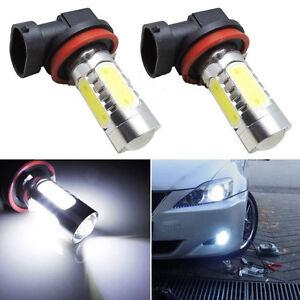 2pcs Universal H8 7.5W Xenon LED COB Car Fog Light Bright White LED Bulbs