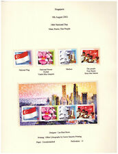 Singapore 2003 National Day 4v and Minisheet MNH
