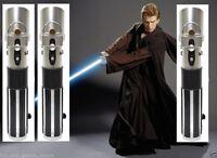 3 Anakin Skywalker Wars Lightsaber Star Force Blue Ultimate Master Hasbro New