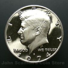 1974-S Kennedy Half Dollar -  Gem Proof Cameo U.S. Coin