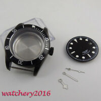 41mm sterile Black PVD Solid Steel Watch Case Dial for ETA 2824 2836 movement