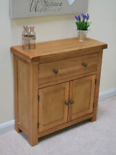 Oak Mini Sideboard / Small Storage Cupboard / Rustic Kitchen Beaufort