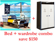 kids pirate ship bed child boat bed & wardrobe only