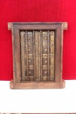 Brass Fitted Window Frame Wall  Wooden Vintage Antique Old Decorative PS-42