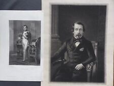 XIXème-2 gravures de Napoléon 1er et Napoléon III
