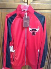 Mitchell & Ness Chicago Bulls Backboard Track Jacket Men 2XL XXL $160 MSRP NWT