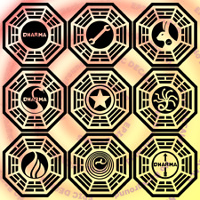 Assorted Lost Dharma Initiative Decal / Sticker Window Car Truck Laptop Computer