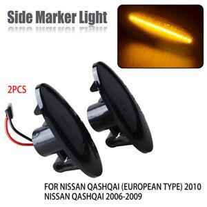 2x LED Side Marker Turn Signal Light Lamp Amber For Nissan qashqai juke x-trail