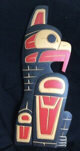 Rarely Available In Uk-Canadian First Nation Thunderbird Carved By Fred Baker