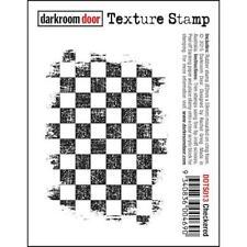 Darkroom Door Texture Cling Rubber Stamp - DDTS013 Checkered