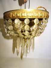 Kristall Plafoniere Deckenleuchter Kronleuchter mit Kristallbehang antik Lampe.