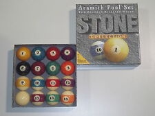 "HIGH QUALITY ARAMITH 2 1/4"" AMERICAN STONE GRANITE POOL BALLS."