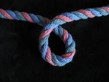 Rosa azul y verde suave bebé colores pastel cuerda POR METRO