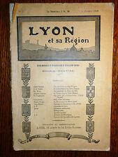 Lyon et sa Région revue mensuelle de vulgarisation et d'éducation sociale