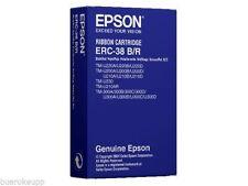 2 x Original EPSON ERC-38BR Cinta de color para Caja negro / rojo ERC-38