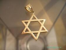 14K Yellow Gold Israeli Star Of David - Free Shipping  1x1 in Dimensions !!