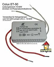 Colux ET-50 Micro Halogen Trafo 12V dimmbar 10-50 Watt f. LED (AC) ultra Kompakt