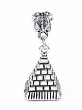 Pyramid of Giza Egypt Trip Landmark 3D Dangle Charm for European Bead Bracelets
