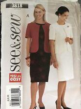 Butterick See & Sew pattern 3818 Misses'/Petite Jacket and Dress sz 6,8,10 uncut